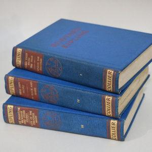 Kippling Lot of 3 Blue Hardcover books for Decor